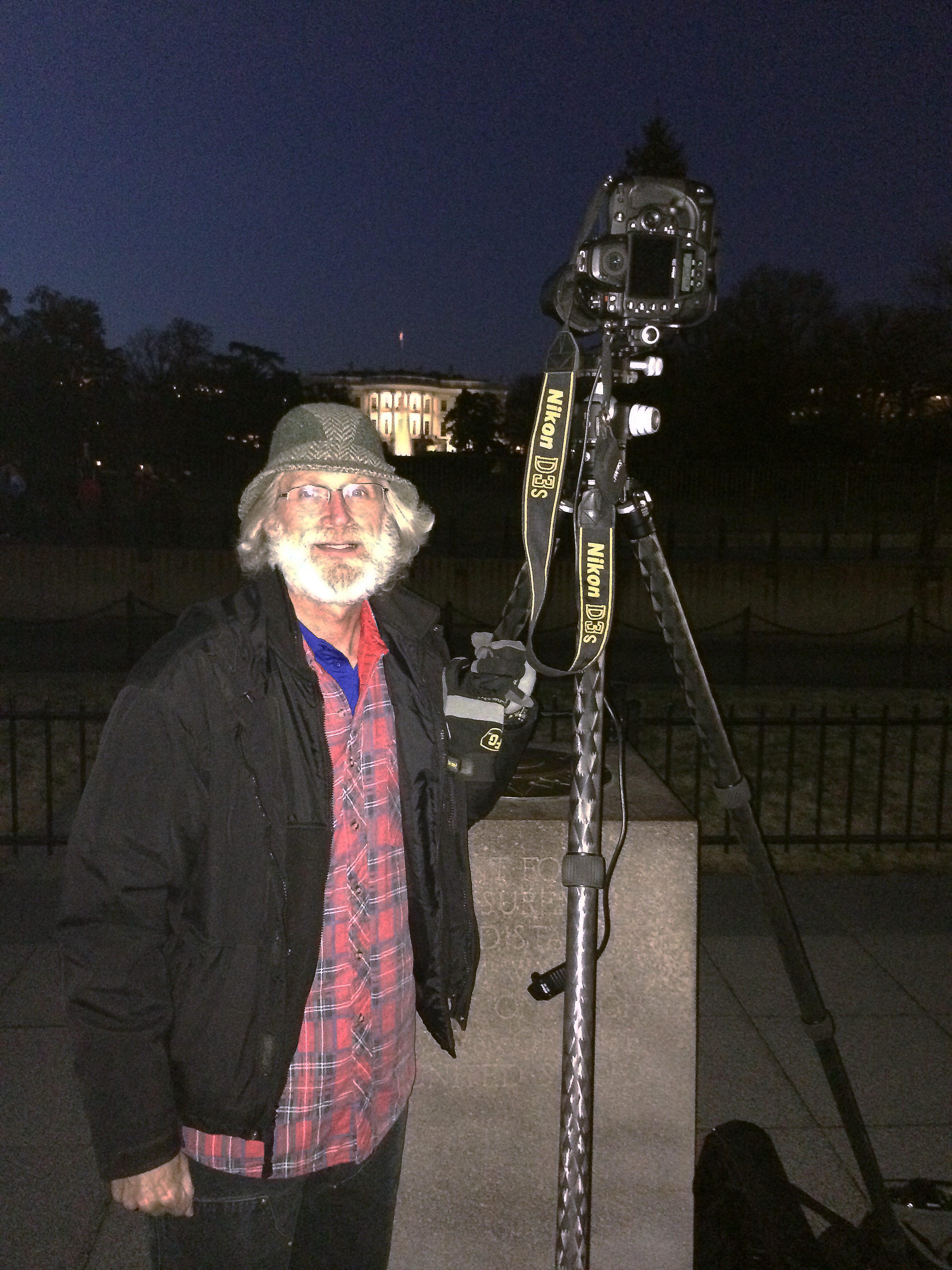 Gerry McIntyre at the White House - Copyright, 2014, Gerard McIntyre.  All rights reserved.