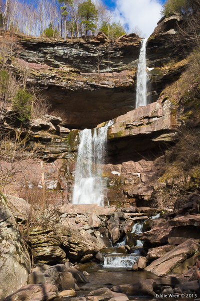 The two-tier Kaaterskill Falls, in the Catskill Mountains of New York State